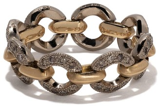 hum 18kt Gold Chain Link Diamond Ring