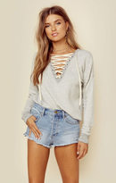 N:philanthropy kali lace up sweatshirt