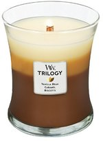 Trilogy WoodWick Café Sweets Candle, Brown, Medium