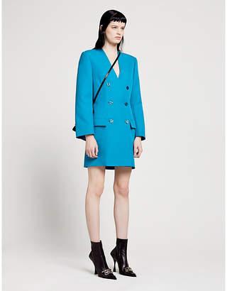 Balenciaga V-neck twill blazer dress