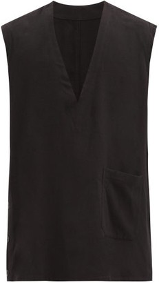 TAKAHIROMIYASHITA TheSoloist. V-neck Silk-fleece Vest - Black