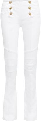Balmain Button-detailed High-rise Bootcut Jeans