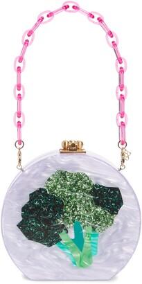 Edie Parker Broccoli Acrylic Bag
