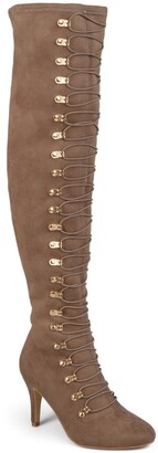 Journee Collection Trill Over-the-Knee Lace-Up Boot - Wide Calf