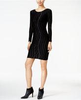Bar III Velvet-Burnout Bodycon Dress, Only at Macy's