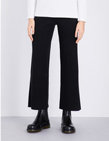Izzue Wide leg ribbed-knit trousers