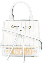 Moschino studded logo cross-body bag - women - Calf Leather - One Size