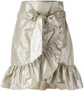 Isabel Marant ruffled skirt - women - Cotton/Linen/Flax - 38