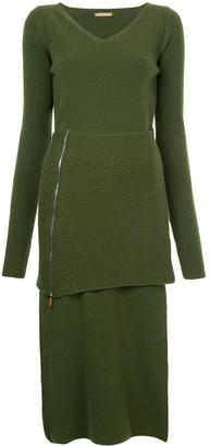 Nehera V-neck knitted dress