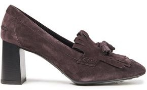Tod's Gomma Tasseled Fringed Suede Pumps