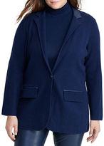 Lauren Ralph Lauren Plus Single-Button Sweater Jacket
