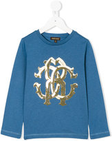 Roberto Cavalli logo print sweatshirt - kids - Cotton/Modal - 3 yrs