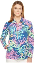 Lilly Pulitzer UPF 50+ Skipper Printed Popover Women's Long Sleeve Pullover