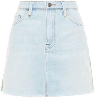 Frame Canvas-paneled Denim Mini Skirt