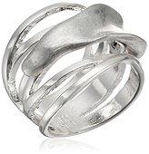 """Robert Lee Morris Femme Petal"""" Sculptural Silver Cut-Out Ring, Size 8.5"""