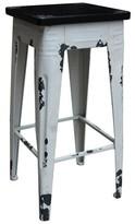 "Mila Louise Bar & Counter Stool Gracie Oaks Seat Height: Counter Stool (26"" Seat Height), Frame Finish: White"