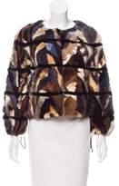 Zadig & Voltaire Collarless Mink Fur Jacket