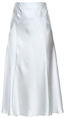 Alberta Ferretti Stretch-Silk A-Line Skirt