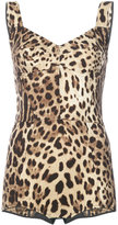 Dolce & Gabbana leopard print bustier bodysuit