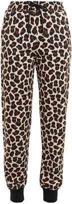 MSGM Leopard-print Cotton-fleece Track Pants