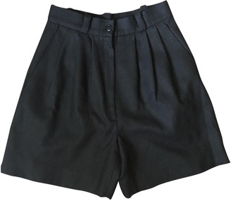 Givenchy Black Wool Shorts for Women Vintage