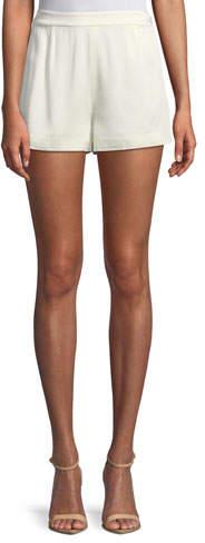 Alexis Leala High-Waist Pleated Shorts