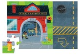 Crocodile Creek Fire Station Puzzle & Play Set 24pc