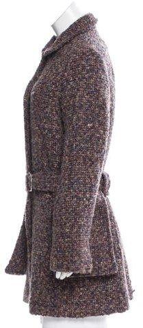 Christian Lacroix Knee-Length Mélange Coat