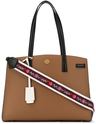 Tory Burch Walker Colour-Block webbing strap satchel