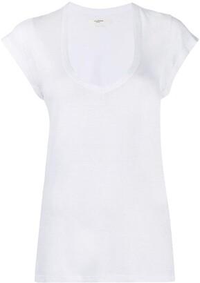 Etoile Isabel Marant U-neck longline T-shirt
