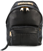 Moschino Logo plaque mini backpack - women - Leather/metal - One Size
