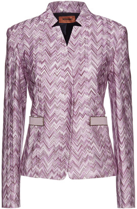 Missoni Metallic-trimmed Crochet-knit Jacket