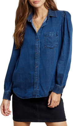 Rails Madelyn Long-Sleeve Button-Down Denim Top