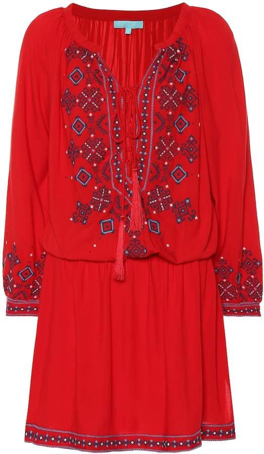 d71fb36d242 Nadja embroidered minidress