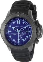 Nautica Men's NAD52500G NMX Dive Style Blue Crystal Analog Display Analog Quartz Watch