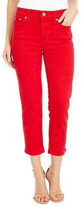 Lauren Ralph Lauren Premier Straight Crop Jeans in Bold Red Wash (Bold Red Wash) Women's Jeans