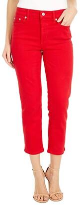 Lauren Ralph Lauren Premier Straight Crop Jeans in Bold Red Wash (Bold Red Wash) Women's Jeans