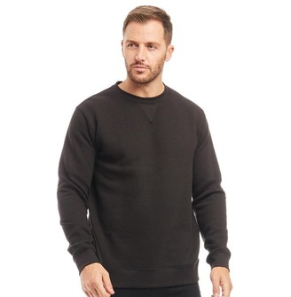 Kangaroo Poo Mens Crew Neck Sweatshirt Black