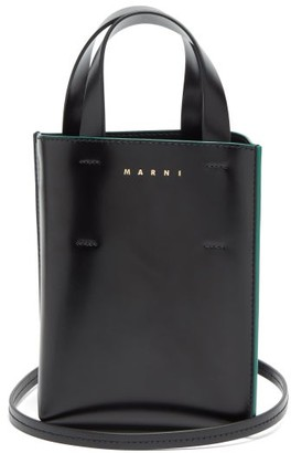 Marni Museo Nano Leather Cross-body Bag - Black