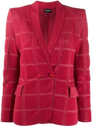 Giorgio Armani Textured Check Blazer