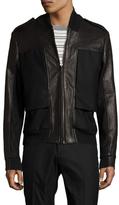 Maison Margiela Leather Contrast Bomber jacket