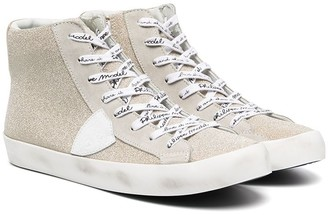 Philippe Model Kids TEEN logo-lace high-top sneakers
