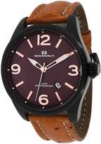 Oceanaut OC8112L Men's Military Brown Leather Watch