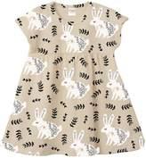 Tesa Babe Bunnies Cotton Dress - Cream/Tan, Size 18-24m