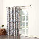 Sun Zero Allena Grommet Top Extra Wide Patio Door Curtain Panel in Stone