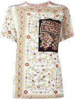 No.21 floral print T-shirt - women - Silk - 40