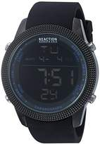 Kenneth Cole Reaction Men's 'Sport' Quartz Metal and Silicone Casual Watch, Color:Black (Model: 10031945)