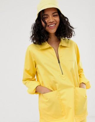 M.C. Overalls half zip pocket detail jacket-Pink