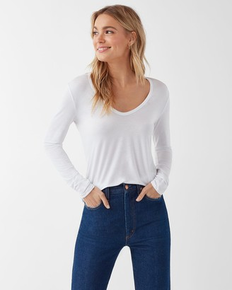 Splendid Madison Long Sleeve Scoop