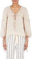Derek Lam 10 Crosby Women's Ruffle-Trimmed Cotton-Silk Voile Blouse